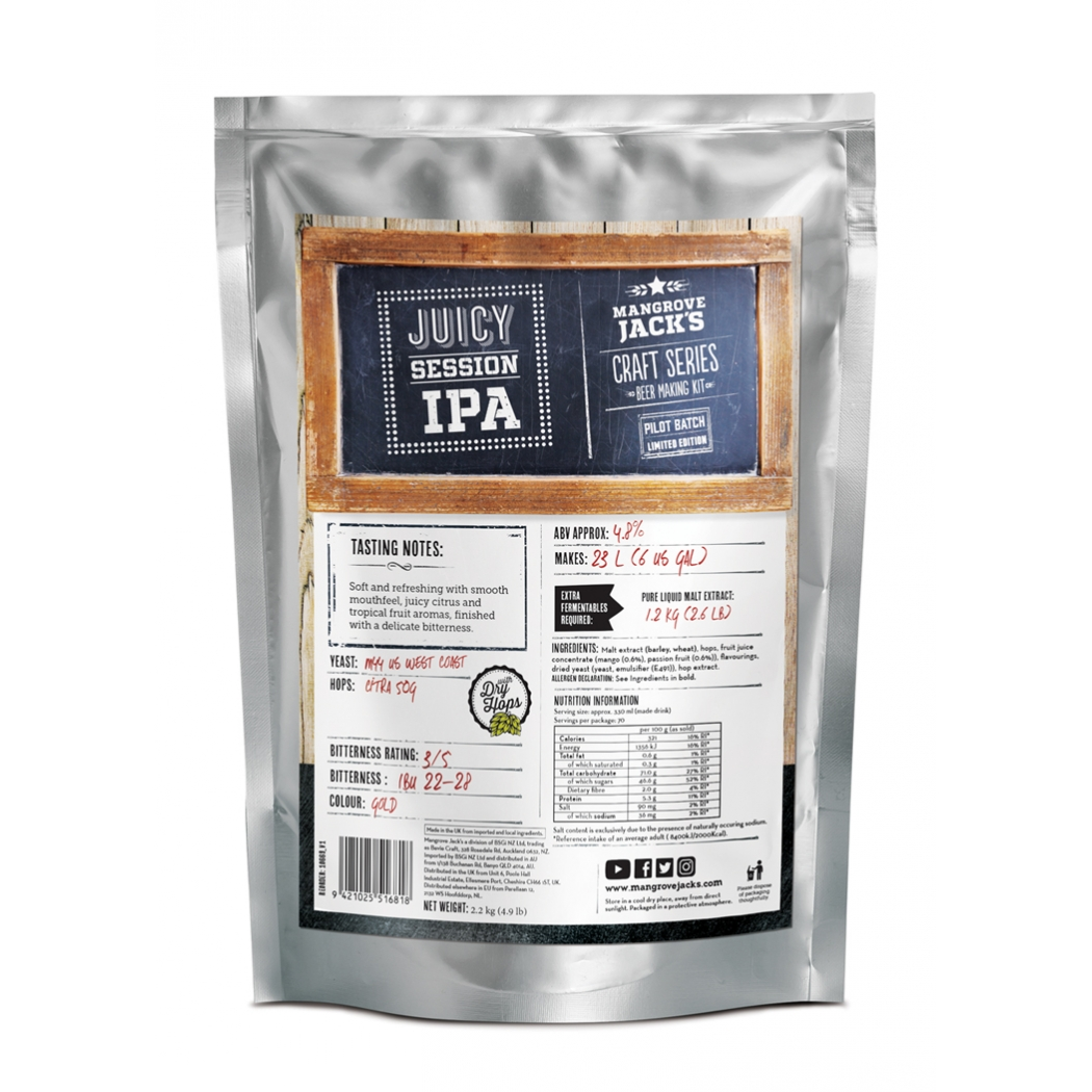 "Aromatinga sesijinė IPA - ""Juicy Session IPA"" su sausu apyniavim"